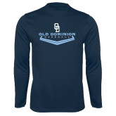 Performance Navy Longsleeve Shirt-Baseball Plate