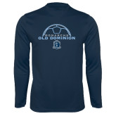 Performance Navy Longsleeve Shirt-Ball on Top