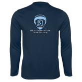 Performance Navy Longsleeve Shirt-Wrestling Helmet