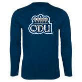 Performance Navy Longsleeve Shirt-ODU w Crown