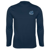 Performance Navy Longsleeve Shirt-Primary Mark