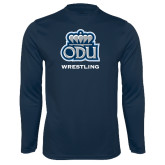 Syntrel Performance Navy Longsleeve Shirt-Wrestling