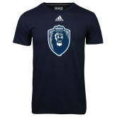 Adidas Climalite Navy Ultimate Performance Tee-Lion Shield