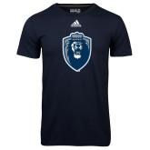 Adidas Climalite Navy Ultimate Performance Tee-Lion Shield