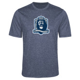 Performance Navy Heather Contender Tee-Monarchs Shield