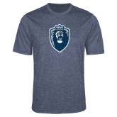 Performance Navy Heather Contender Tee-Lion Shield