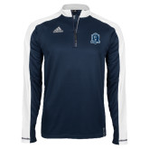 Adidas Modern Navy Varsity 1/4 Zip-Monarchs Shield