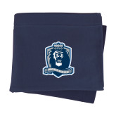 Navy Sweatshirt Blanket-Monarchs Shield