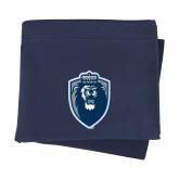 Navy Sweatshirt Blanket-Lion Shield