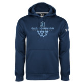 Under Armour Navy Performance Sweats Team Hood-Basketball Net