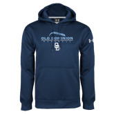 Under Armour Navy Performance Sweats Team Hoodie-Baseball Threads
