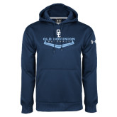 Under Armour Navy Performance Sweats Team Hoodie-Baseball Plate