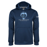 Under Armour Navy Performance Sweats Team Hoodie-Wrestling Helmet