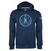 Under Armour Navy Performance Sweats Team Hoodie-10 Years Football