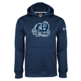 Under Armour Navy Performance Sweats Team Hood-Primary Mark