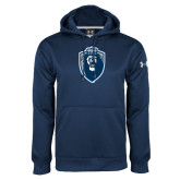 Under Armour Navy Performance Sweats Team Hood-Lion Shield
