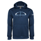 Under Armour Navy Performance Sweats Team Hood-Football Inside