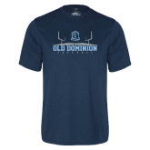 Performance Navy Tee-Football Field
