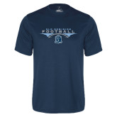 Performance Navy Tee-Football Wings