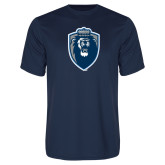 Performance Navy Tee-Lion Shield