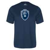 Performance Navy Tee-Lion Shield