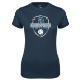 Ladies Syntrel Performance Navy Tee-2017 Conference USA Mens Soccer