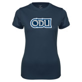 Ladies Syntrel Performance Navy Tee-ODU