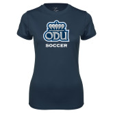 Ladies Syntrel Performance Navy Tee-Soccer