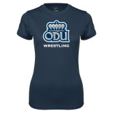 Ladies Syntrel Performance Navy Tee-Wrestling