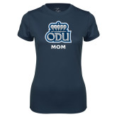 Ladies Syntrel Performance Navy Tee-Mom