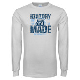 White Long Sleeve T Shirt-History Made - ODU vs VT