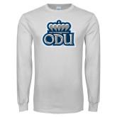 White Long Sleeve T Shirt-ODU w Crown
