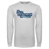 White Long Sleeve T Shirt-Old Dominion University