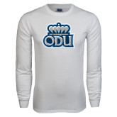 White Long Sleeve T Shirt-ODU with Crown