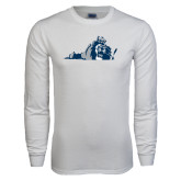 White Long Sleeve T Shirt-Lion State