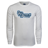 White Long Sleeve T Shirt-Old Dominion University