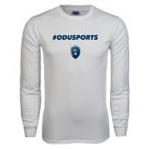 White Long Sleeve T Shirt-ODUSPORTS Hashtag