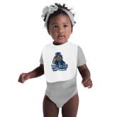 White Baby Bib-Youth Mark Big Blue