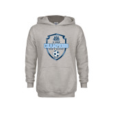 Youth Grey Fleece Hood-2017 Conference USA Mens Soccer