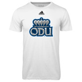 Adidas Climalite White Ultimate Performance Tee-ODU w Crown