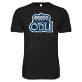 Next Level SoftStyle Black T Shirt-ODU w Crown