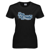 Ladies Black T Shirt-Old Dominion University