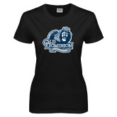 Ladies Black T Shirt-Lady Monarchs
