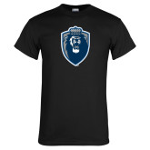 Black T Shirt-Lion Shield