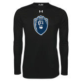 Under Armour Black Long Sleeve Tech Tee-Lion Shield