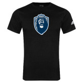Adidas Black Logo T Shirt-Lion Shield