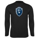 Performance Black Longsleeve Shirt-Lion Shield