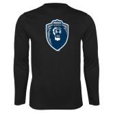 Performance Black Longsleeve Shirt-Lion Shield