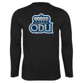 Performance Black Longsleeve Shirt-ODU w Crown