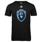 Adidas Climalite Black Ultimate Performance Tee-Lion Shield